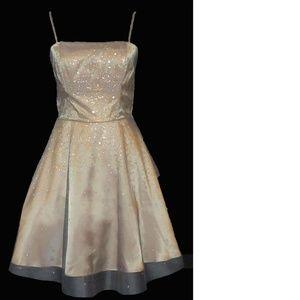 Masquerade mini-dress, size 5/6, Silver